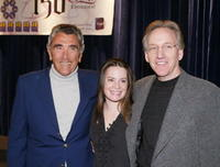 Executive producer E. Duke Vincent, Holly Marie Combs and Brad Kern at the WB's