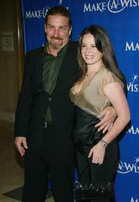 Holly Marie Combs and David Donahoe at the Make-A-Wish Foundation 2004 Awards Dinner.