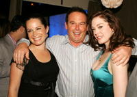 Holly Marie Combs, David Janollari and Rose McGowan at the WB Network stars party.