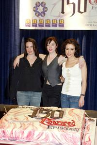 Holly Marie Combs, Rose McGowan and Alyssa Milano at the WB's