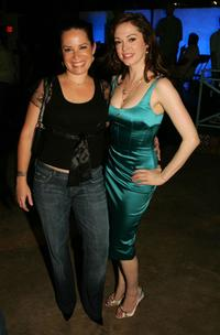 Holly Marie Combs and Rose McGowan at the WB Network stars party.