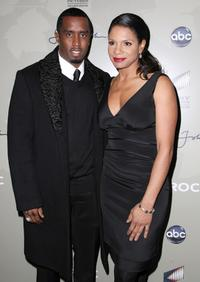 Sean Combs and Audra McDonald at the screening of