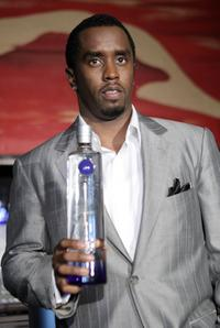 Sean Combs at the press conference to announce a partnership with Ciroc vodka.