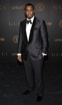 Sean Combs at the Mercedes-Benz Fashion Week Fall 2008, attends a reception to benefit UNICEF.