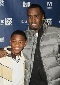 Sean Combs and Justin Martin at the premiere of