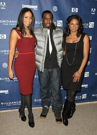 Sean Combs, Sanaa Lathan and Audra McDonald at the premiere of