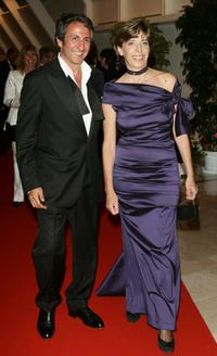 Richard Anconina and Catherine Colonna at the 58th International Cannes Film Festival opening night gala.