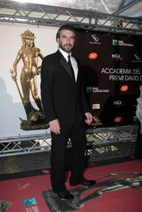 Luca Lionello at the David di Donatello Movie Awards.