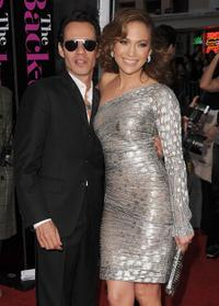 Marc Anthony and Jennifer Lopez at the California premiere of