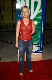 Allison Mack at the WB Network's 2002 Summer Party.