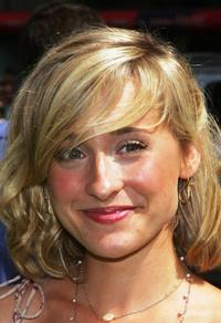 Allison Mack at the premiere of