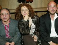 Ernesto Mahieux, Valeria Golino and Emanuele Crialese at the 2003 New Directors/New Films directors party.
