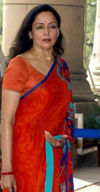 Hema Malini at the Indian Vice-President election at Parliament in New Delhi.