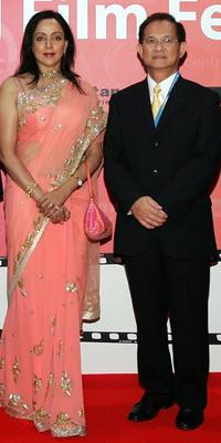 Hema Malini and Guest at the 2007 Bangkok International Film Festival Opening Ceremony.