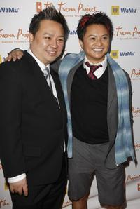 Rex Lee and Alec Mapa at the Trevor Projects 10th annual Cracked Christmas benefit fundraiser.