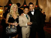 Holly Madison, Alec Mapa and Tim Weaver at the Human Rights Campaign Gala.