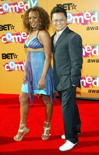 Rachel True and Alec Mapa at the 2005 BET Comedy Icon Awards.