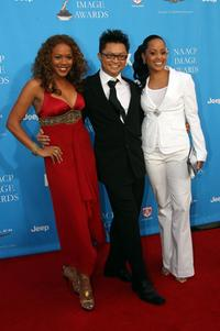 Rachel True, Alec Mapa and Essence Atkins at the 37th Annual NAACP Image Awards.