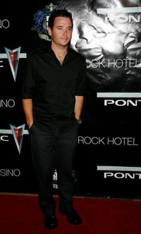Kevin Connolly at the concert by rapper 50 Cent poolside.