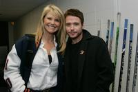 Christie Brinkley and Kevin Connoly at the NHL game between the Toronto Maple Leafs and the New York Islanders.