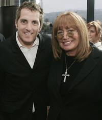Scott Marshall and Penny Marshall at the premiere of