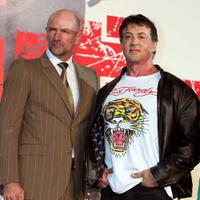 Graham McTavish and Sylvester Stallone at the Japan premiere of