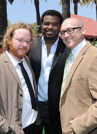 Walt Dohrn, Craig Robinson and Mike Mitchell at the California premiere of