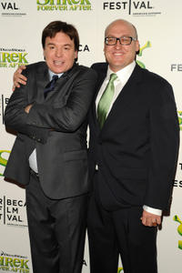 Mike Myers and Mike Mitchell at the opening night premiere of