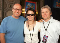 Mike Mitchell, Nina Jacobsen and Producer Brigham Taylor at the California premiere of