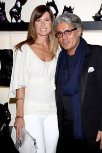Federica Moro and Giuseppe Zanotti at the Milan Fashion Week Womenswear Autumn/Winter 2009.