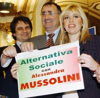 Alessandra Mussolini and Guests at the promotion of her new right-wing party