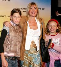 Alessandra Mussolini and her family at the Italian premiere of