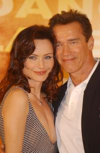 Francesca Neri and Arnold Schwarzenegger at the promotion of