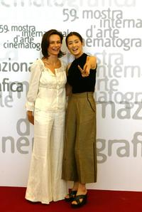 Francesca Neri and Gong Li at the 59th annual Venice Film Festival.