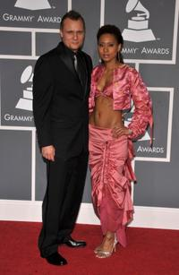 Carsten Norgaard and recording artist Vaja at the 51st Annual Grammy Awards.