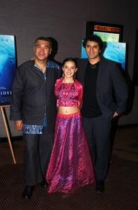 Rawiri Paratene, Keisha Castle Hughes and Cliff Curtis at the after party of the premiere of