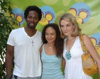 Harold Perrineau, Jr., Daughter Aurora and Wife Brittany at the premiere of