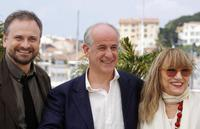 Massimo Popolizio,Toni Servillo and Piera Degli Esposti at the photocall of