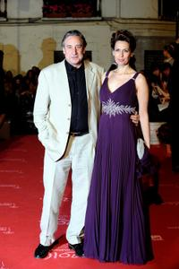 Juanjo Puigcorbe and Lola Marceli at the Zonazine Awards ceremony.
