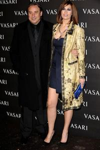 Juanjo Puigcorbe and Lola Marcelli at the launch of the new Vasari Radjan collection.