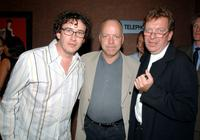 Steve Coogan, Bingham Ray and Tony Wilson at the after party of the premiere of