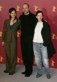 Sabine Timoteo, Aurelien Recoing and Julia Hummer at the photocall of