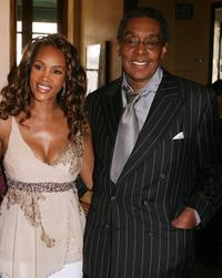 Vivica A. Fox and Don Cornelius at the 20th Anniversary Soul Train Music Awards Nominations.