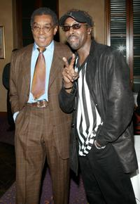 Don Cornelius and Arsenio Hall at the 17th Annual Soul Train Music Awards Nominations.