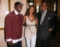 Tyrese Gibson, Vivica A. Fox and Don Cornelius at the 20th Anniversary Soul Train Music Awards Nominations.