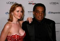 Victoria and Don Cornelius at the Clive Davis pre-Grammy party.