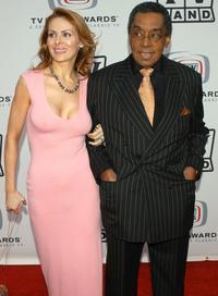 Don Cornelius and his wife Victoria at the 2005 TV Land Awards.
