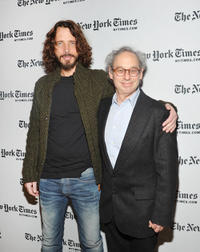 Chris Cornell and writer Jon Pareles at the New York Times TimesTalk during the 2012 NY Times Arts & Leisure weekend.
