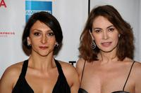 Paola Minaccioni and Elena Sofia Ricci at the premiere of