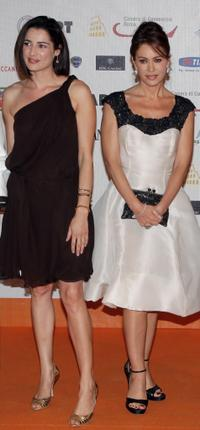 Luisa Ranieri and Elena Sofia Ricci at the Roma Fiction Fest 2008.